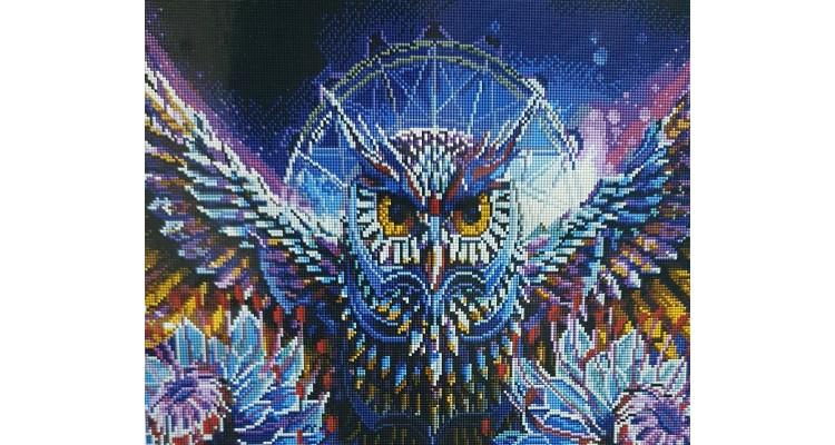 Алмазная мозаика ХРУСТАЛЬНАЯ СОВА gf3751